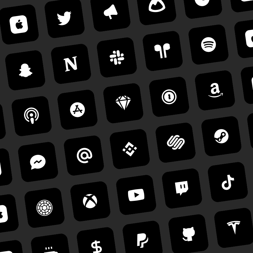iOS 14 black app icons