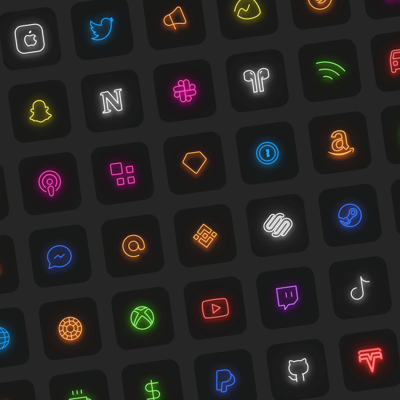 neon icons for ios 14